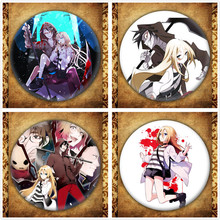 Anime Angels of Death Display Badge Japanese Cartoon Figure Rachel Gardner Ray Brooch Pin Bag Clothes Decoration Collection Gift