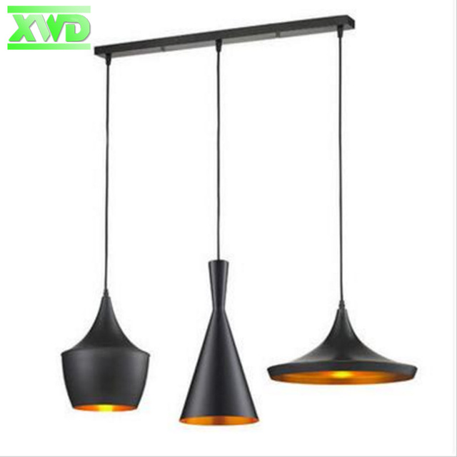 Modern Attractive Lamps Musical Instrument 1 Set 3 Pieces Pendant Lights Restaurant Hanging Light For