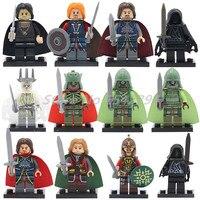 Wholesale Building Blocks 20pcs Lot RingWraith Lord Of The Rings Hobbit Super Heroes Boromir Bricks DIY