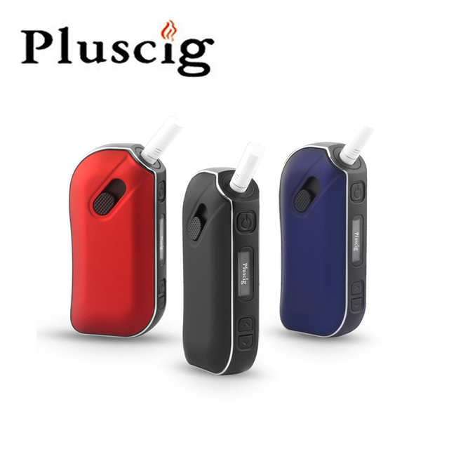 Pluscig P2 LED תצוגת TC Ecig 1300mAh אלקטרוני סיגריות Vape ערכות תאימות עם מותג חימום טבק מקל