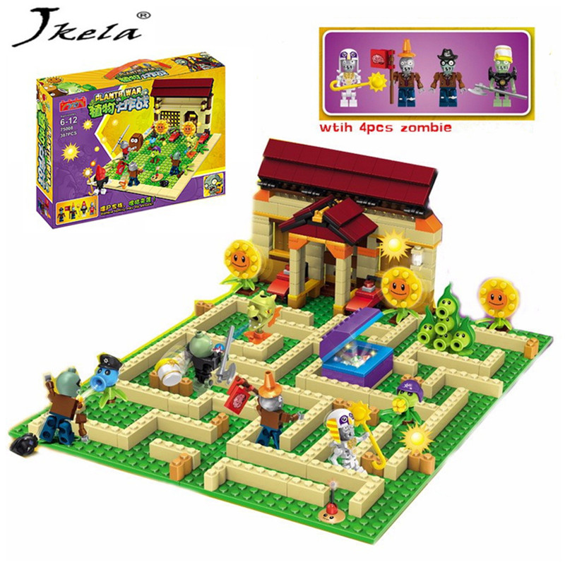 цена [Hot] New 2 style plants vs zombies Set Anime Garden Game Building Blocks Bricks Compatible With Legoingly plants vs zombies