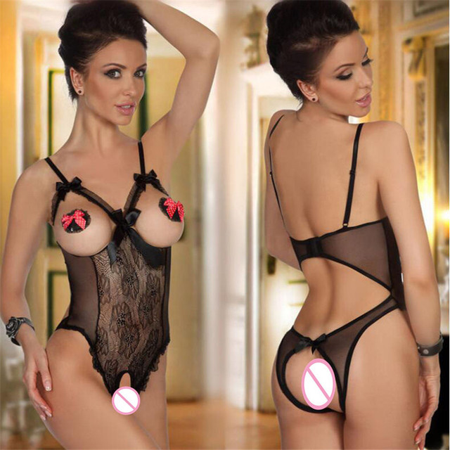 Erotic Lingerie for Women Sex Underwear Porn Babydoll Dress Hot Lace Open Bra Open Crotch Sexy Lingerie Costume Nuisette porno 1
