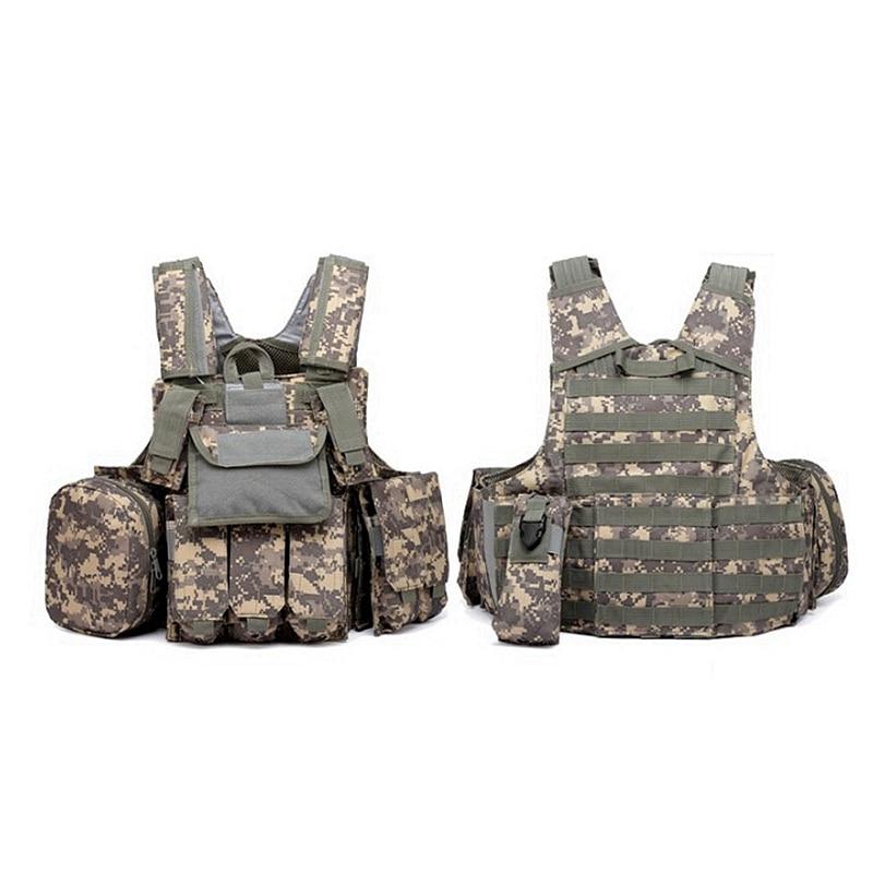 Nouveau US armée ACU vert CP Tan noir Camouflage gilet lourd tactique Airsoft MOLLE Combat gilet Multicam w/Magazine EDC poche