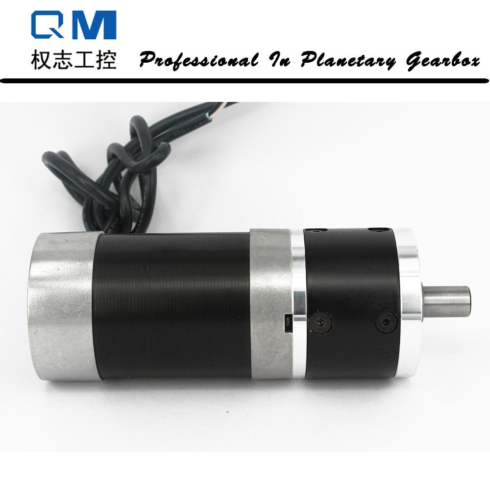 Rapport de réducteur planétaire 5:1 de réducteur planétaire de moteur à courant continu sans brosse de vitesse du moteur nema 23 120 W 24 V bldc