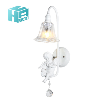 Resin lovely angel wall lamp modern e14 art corridor lamp of the head of a bed lovely angel creative music lamps and lanterns