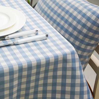 New Mediterranean Table Cloth Blue Plaid Tablecloth European Contracted  Yarn Dyed Tablecloth Cover Square Table Cloth In Tablecloths From Home U0026  Garden On ...