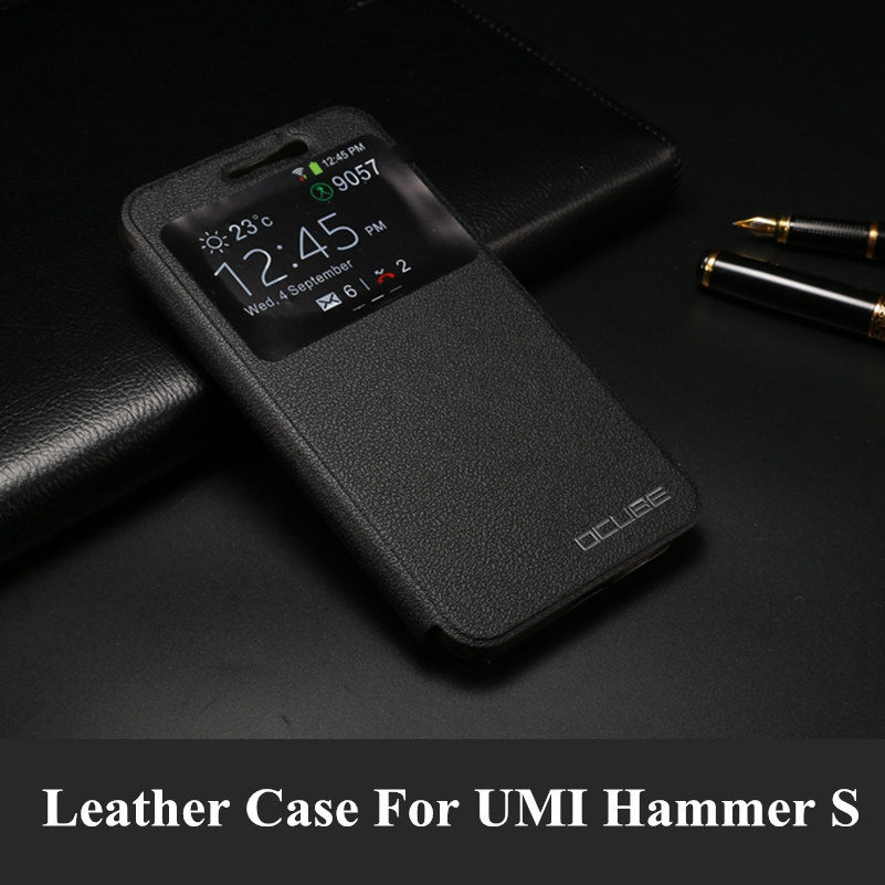 UMI Hammer S case luxury pu leather cases and covers flip case with stand function back cover phone bag