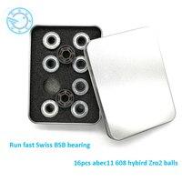 Ceramic Inline Speed Skate Bearings 608 Rs ABEC11 FreeLine Skate Bearing Inline Roller Skate Wheels Bearings