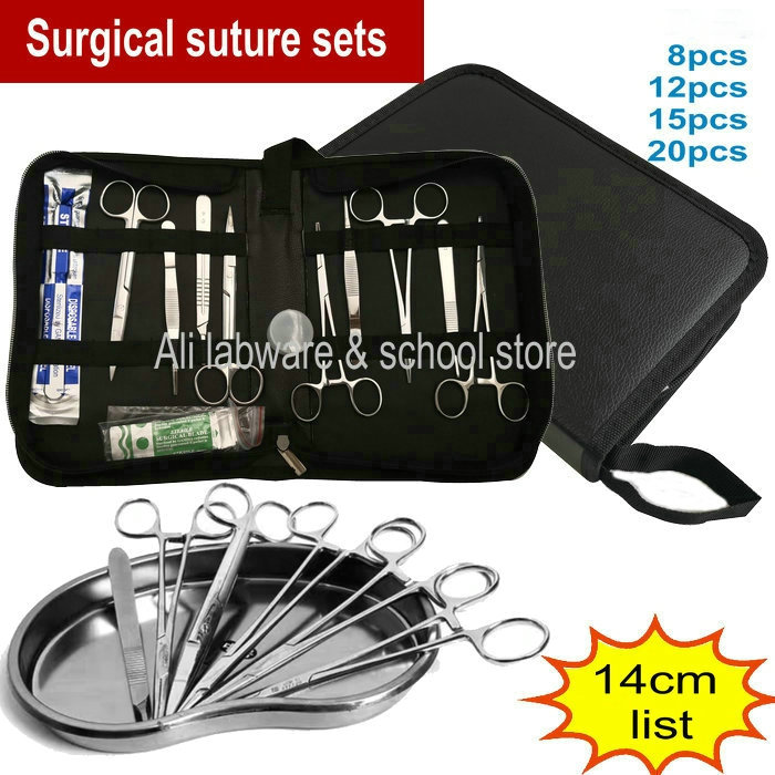 8/12/15/20pcs/set 14cm Surgical suture tools debridement suit operation training kit for Medical Students-in Beaker from Office & School Supplies
