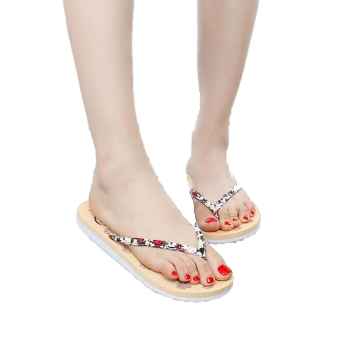 2017 Women sandals slippers shoes Caual Beach Flip Flops 3 Colors Summer Print Floral Bohemia Sandal Shoes for Woman pantufa casual wedges sandals 2017 summer beach women shoes platform flip flops print sandal comfort creepers shoes woman