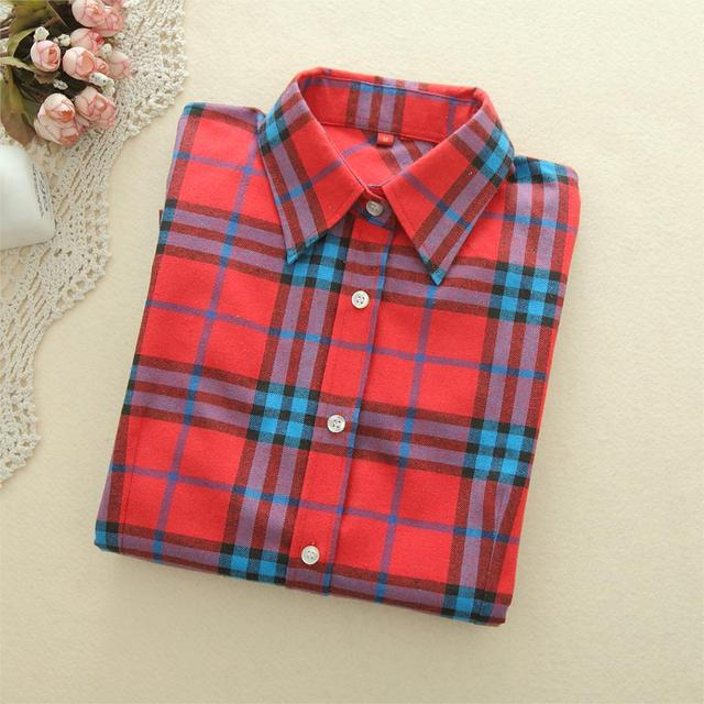 3e0110f98870d 2018 New Brand Women Blouses Long Sleeve Shirts Cotton Red and Black ...