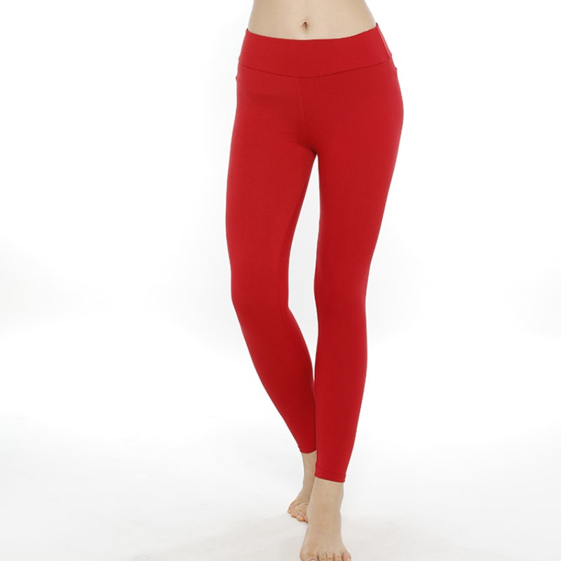 Toivotuksia Rot Frauen Fashion Solid Leggings Hohe Taille Fitness Leggins Pantalones 210gsm Hohe Qualität Legging