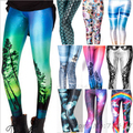 2017 New Women leggins 3D Digital Black milk Zombie Queen Skeleton Galaxy Print Leggings Pants for Women Drop Shipping