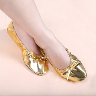 Free Shipping Cheap Gold Belly Dancing Shoes S / M / L / XL