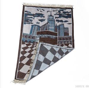 Image 2 - New Kaaba Pattern Islamic Prayer Carpet Muslim Rug Products Red Carpet Jute Mat Rectangle Patchwork Vintage Rug with Tassel Edge