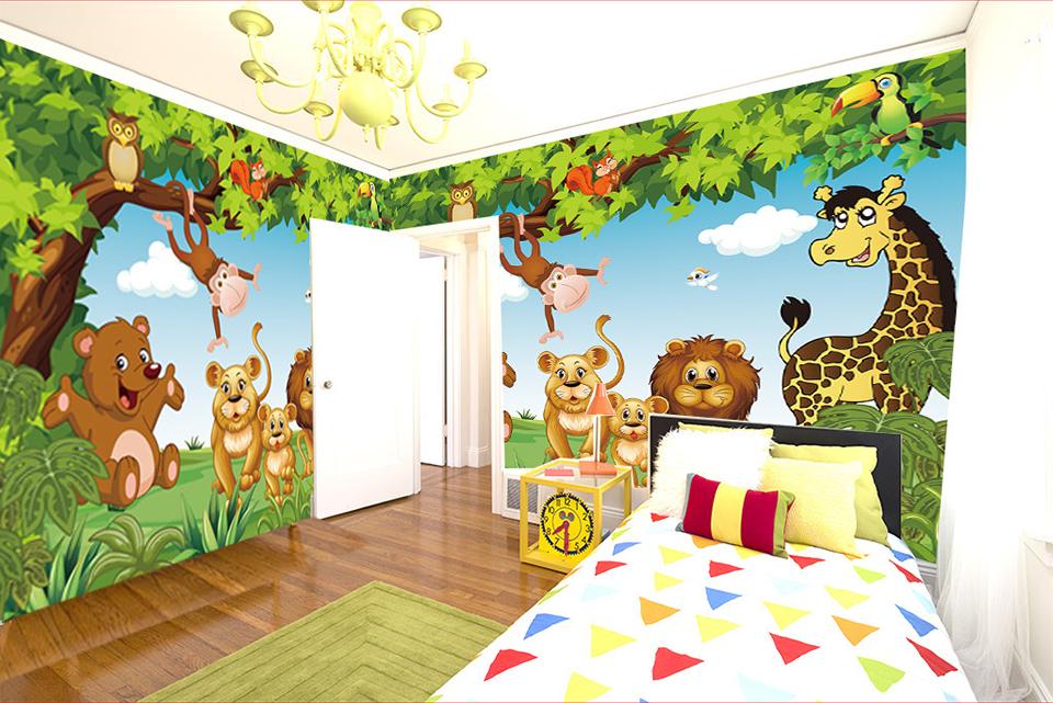 HTB1UNApQpXXXXXsXXXXq6xXFXXX2 - Cartoon Animation child room wall mural for kids room boy/girl bedroom wallpapers 3D mural wallpaper custom any size