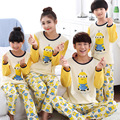 Kiqoo Nueva Llegada de Dibujos Animados Lindo 2 unids Ropa Pijamas Set Pijamas Familia Correspondiente Equipo Padre-hijo Ropa de Hogar