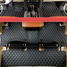 Экспресс-доставка волокно кожаный салон автомобиля коврик для Toyota Land Cruiser Prado 2011 2012 2013 2014 2015 2016 2017 2018