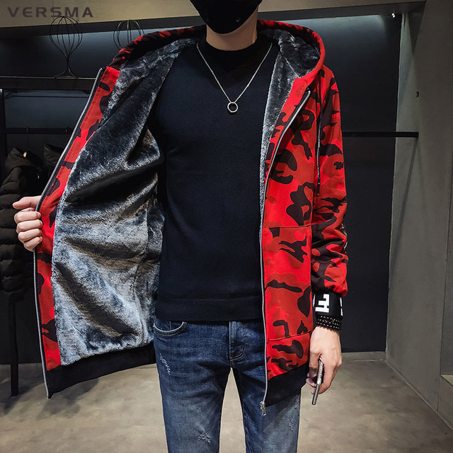 wholesale dealer 765be c4156 VERSMA Military Camouflage Taktische Fleece Jacke Männer Winter Mantel  Japanischen Streetwear Herren Bomber Jacken Männlichen Graben