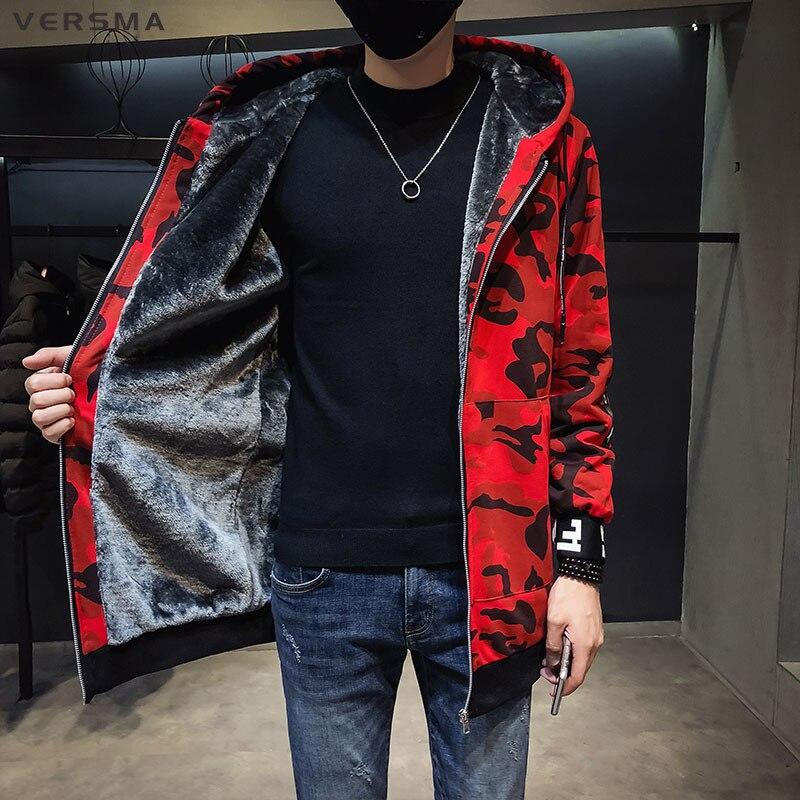 VERSMA militaire Camouflage tactique polaire veste hommes hiver pardessus japonais Streetwear hommes Bomber vestes mâle Trench manteau
