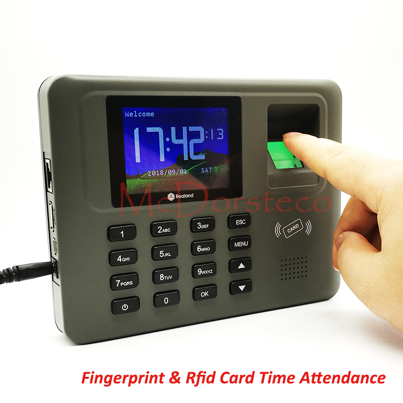Tcp/ip Fingerprint & Rfid Card Time Attendance System Employee Fingerprint Time Management System Time Recording