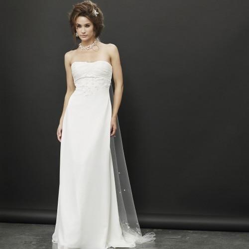 free shipping 2018 new arrival vestido de noiva top bridal gown party famous designer white chiffon concise   Bridesmaid     Dresses