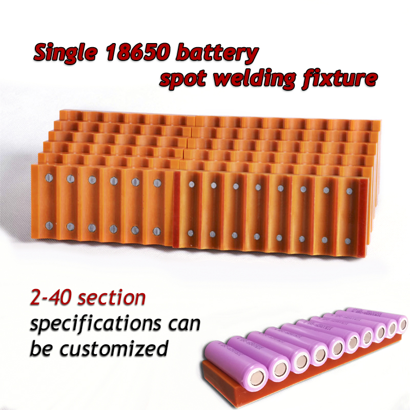 SUNKKO 18650 Battery Fixture Single Row Strong Magnet Spot Welder Welding Fixed Fixture For Lithium Batteries Nickel Strips Weld