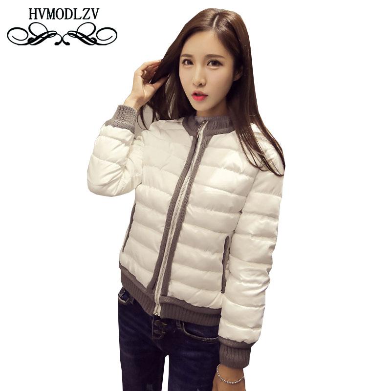 2017 New Women Cotton Jacket Coat Fashion Jaqueta Feminina Inverno round neck Parka Casacos de