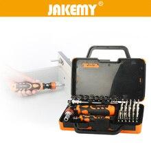 цена на JAKEMY 31 in 1 Multifunction Hand Tools Set Multi Bit Ratchet Screwdriver Socket Set for Laptop Electronics Repair Tools Kit