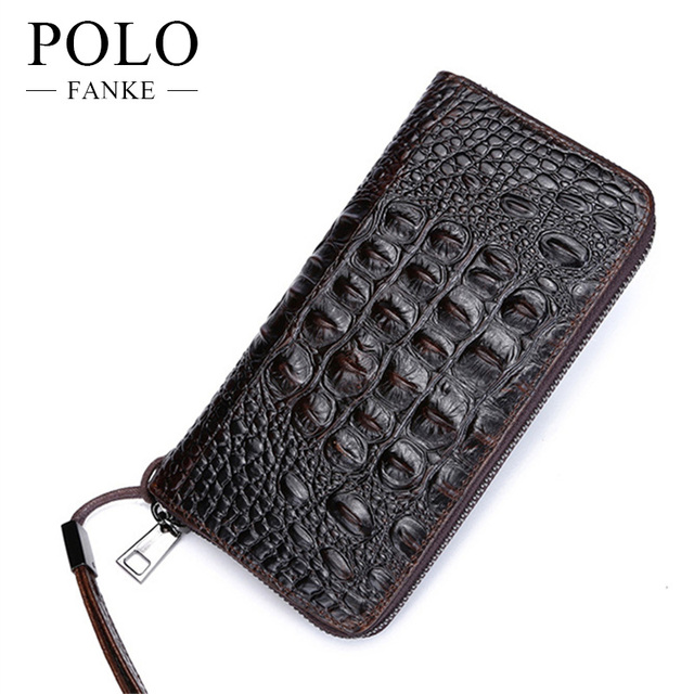 5efc600f3a5 FANKE POLO Wallets Genuine Leather Men Quality Day Clutches Brand Hand Bags  High Capacity Soft Purse Office Wallet FW170959-N