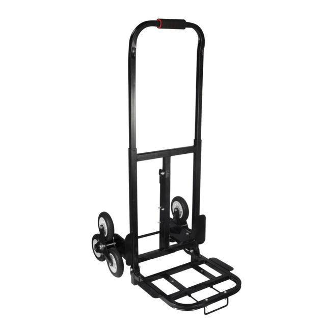 1Set Stair Climber Hand Truck Solid Rubber Tires-440LBS Barrow Handtruck Bracket Roll Cart Trolley stair climbing truck Newest