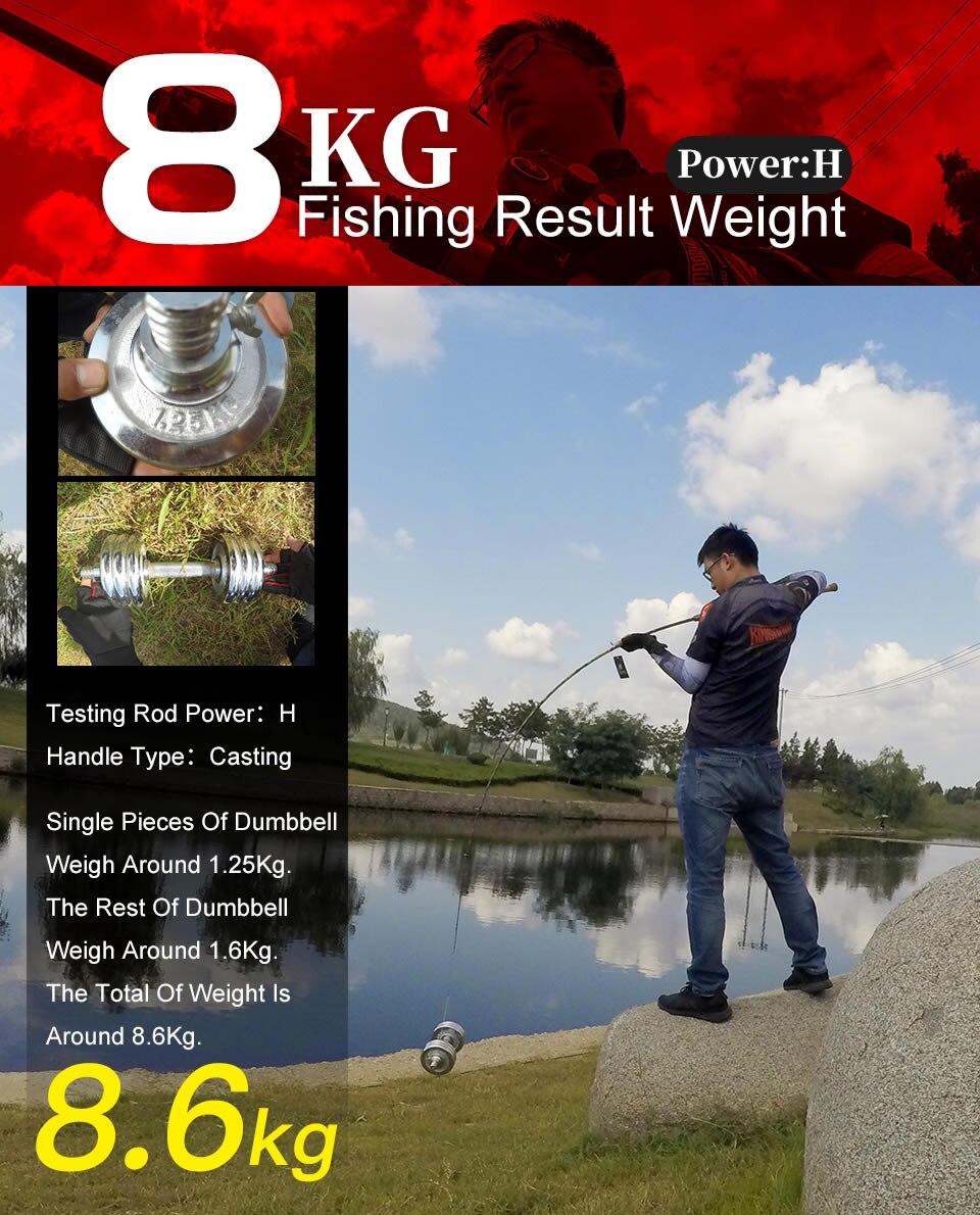Kingdom Black Cut Spinning Casting Fishing Rod Carton MH, H Power Ultralight Telescopic Fishing Rods 2.39m, 2.49m Travel Rod (2)