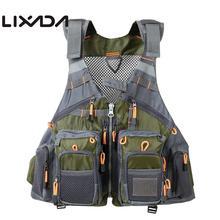 Lixada, без подкладки, открытый рыболовный жилет, пакет, быстросохнущий, мульти карман, дышащая сетка, рыболовный жилет, жилет, куртка, пальто