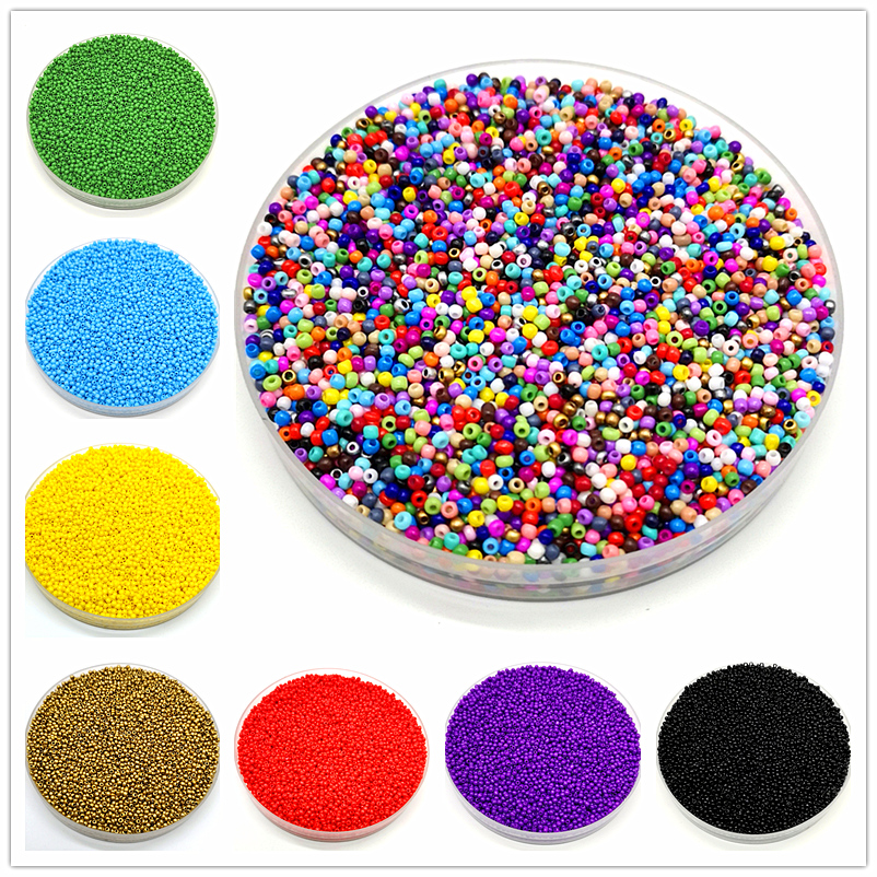 Beads Glass-Seed-Hole Jewelry-Making Czech More-Uniform Austria 1000pcs/Lot Kids DIY