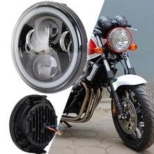 Faro redondo de 7 pulgadas para motocicleta, para Honda CB500, CB400, CB1300, Hornet 250, Hornet 600, Hornet 900, VTEC VTR250
