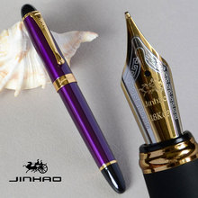 JINHAO X450 PURPLE 18KGP 0.7mm BROAD NIB FOUNTAIN PEN JINHAO 450 LUXURY BUSINESS OFFICE BLACK GOLDEN PINK 21 COLORS FOR COHICE(China)