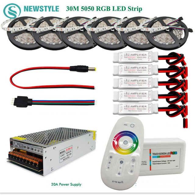 10m 30m 5050 Rgb Led Strip 60leds M Waterproof Ip65 Tape Led Light