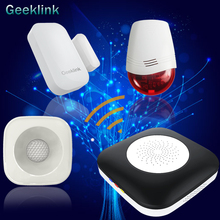 Geeklink Smart Home Body Detector Door Sensor Compatible with Alexa Google Home Automation Remote Control Security Sound Alarm