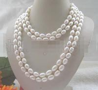 Selling Jewelry>>>wholesale_jewelry_wig$ Beautiful long strand AAA 80 white baroque freshwater pearl necklace