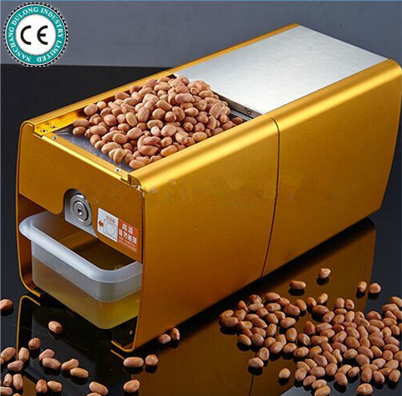 110V or 220V Hot and Cold Home Oil Press Machine Coconut, Peanut, Soybean Oil Press Machine High Oil Extraction Rate 110 240v commercial small oil press machine peanut sesame cold press oil machine high oil extraction rate cheap price page 1