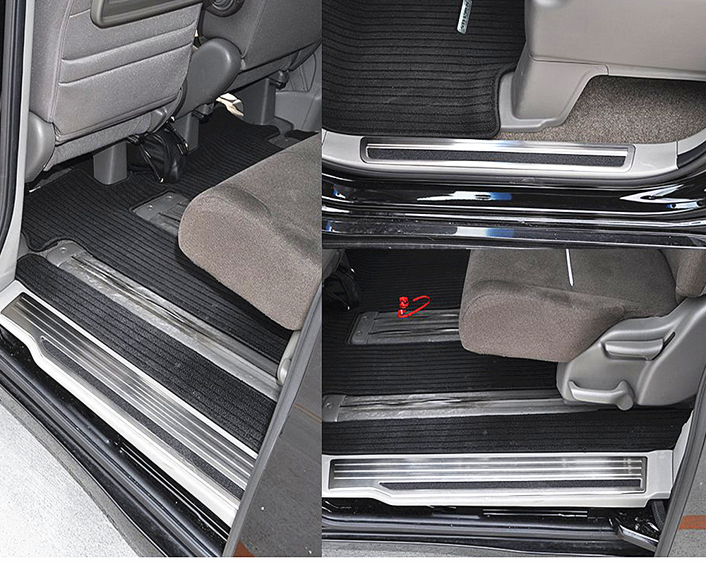 JY 4PCS Stainless Steel Non slip Door Sill Scuff Plate Car Styling Cover Guard Accessories For