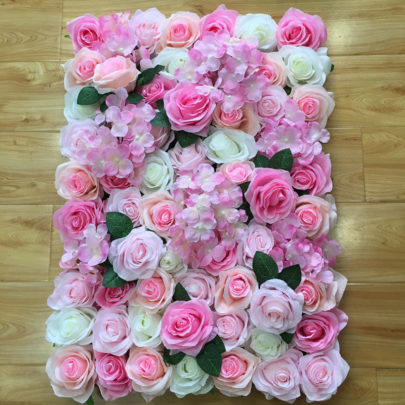 40X60Cm Artificial flower row background wall red pink beauty wedding window decoration