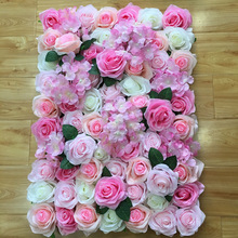 40X60Cm Artificial flower row background wall red pink beauty wedding wedding background flower wall window decoration стоимость