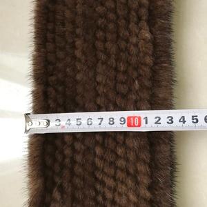 Image 5 - ผู้หญิงขนสัตว์ Mink จริงผ้าพันคอ 100% Real Mink FUR Muffler คุณภาพดีขายส่งและขายปลีก 2020 Real Mink FUR ถักผ้าพันคอ
