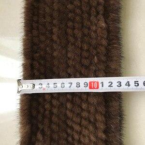 Image 5 - Vrouwen Real Mink Fur Sjaal 100% Echte Echte Mink Fur Uitlaat Goede Kwaliteit Groothandel En Detailhandel 2020 Echte Nerts Bont gebreide Sjaals