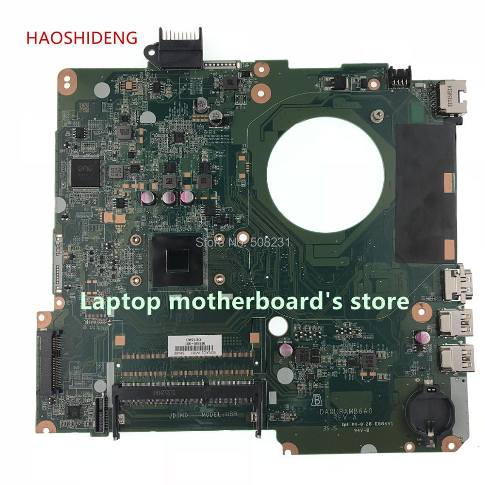 HAOSHIDENG For HP Pavilion 15-F Laptop Motherboard 828166-601 828166-001 828166-501 DA0U8AMB6A0 U8A fully Tested for hp pavilion tx1240ef notebook 441097 001 laptop motherboard for amd ddr2 100% fully tested working