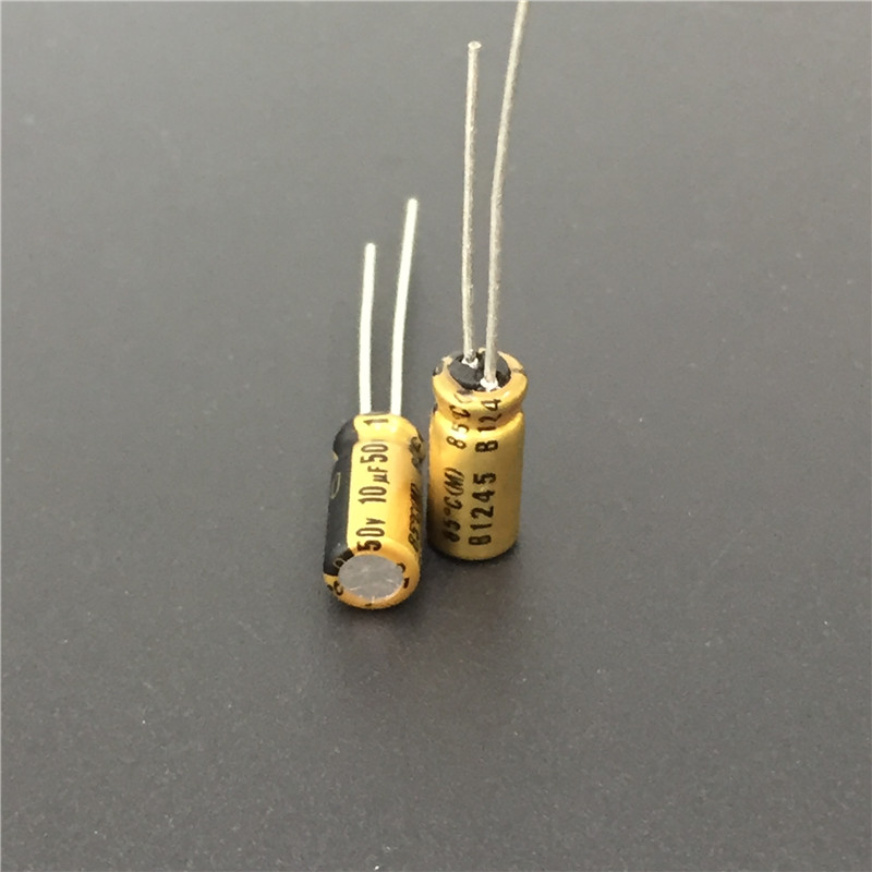 10pcs 10uF 50V NICHICON FG(Fine Gold) 5x11mm 50V10uF Top Grade Audio Capacitor