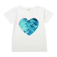 2019 summer new childrens T-shirt cartoon style round collar wear short-sleeved girl