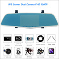 Car DVR IPS 5 inch Screen FHD 1080P Car Rearview Mirror DVR Car Camera Parking DVR Motion Detection Dual Camera Video Recorder