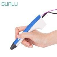 SUNLU M1 bolígrafo de impresora 3D para niños  lápiz de impresión 3D  dispositivo de Juguetes Diy para niños y adultos  soporte de filamento PCL/ PLA